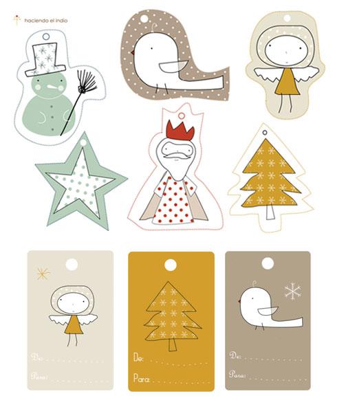 el sofa amarillo etiquetas de regalo navidad (1)