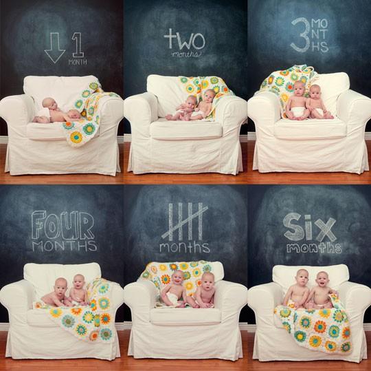 el sofa amarillo fotos bebés mes a mes (8)