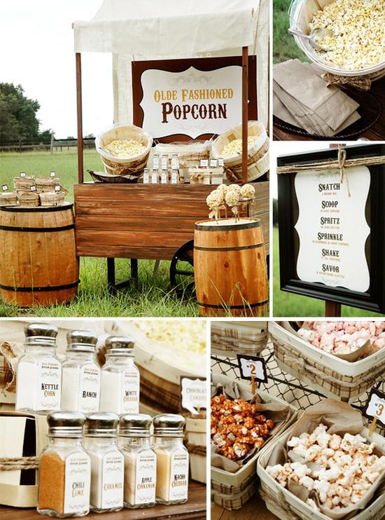 buffet de palomitas para bodas