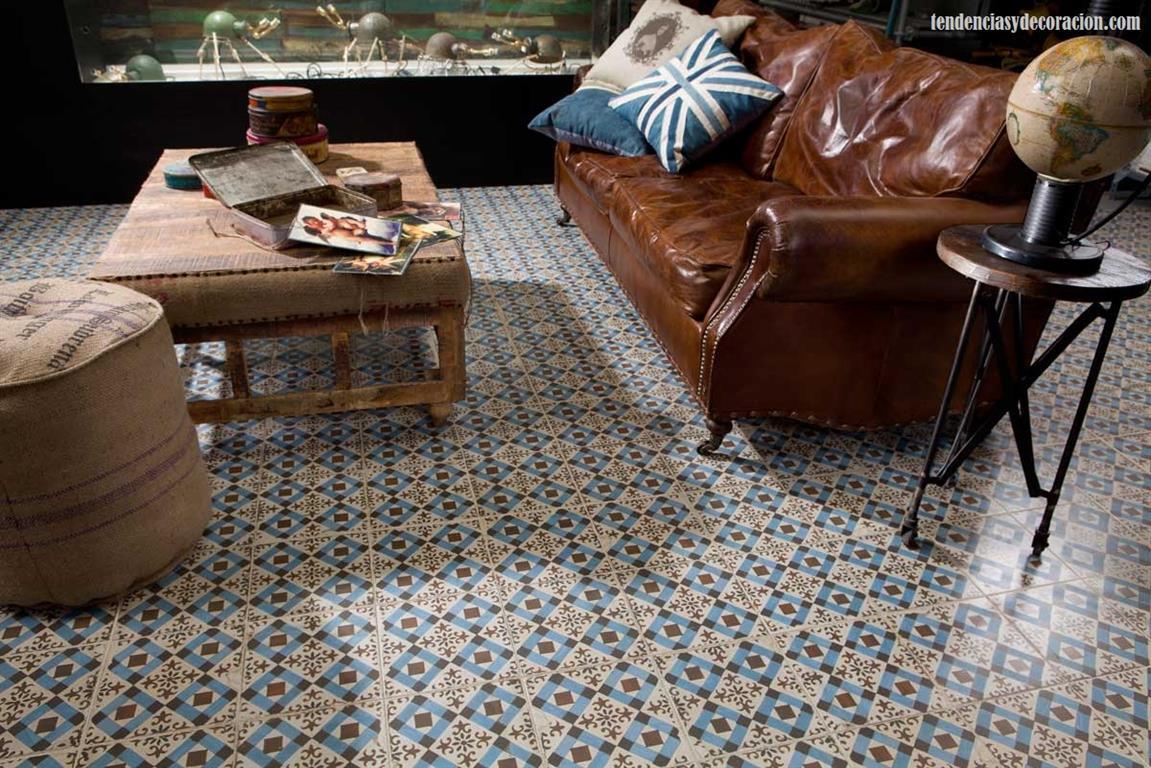 Baldosas Baño Saloni:el sofá amarillo baldosas y suelos hidráulicos (12)