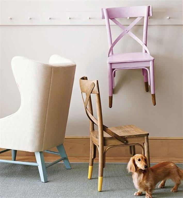 el sofa amarillo muebles a medio pintar dipped (2)