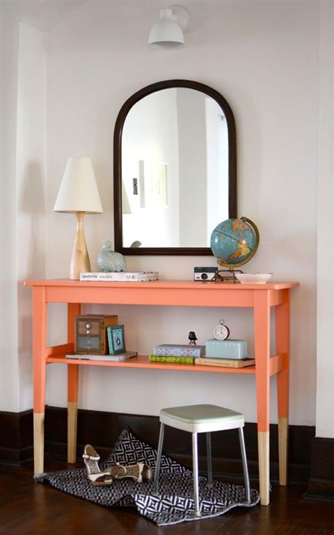 el sofa amarillo muebles a medio pintar dipped (6)