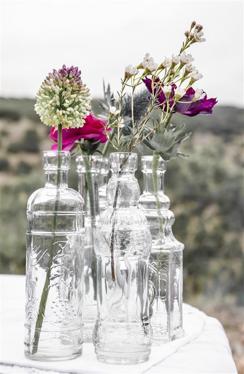 botellas de licor de cristal