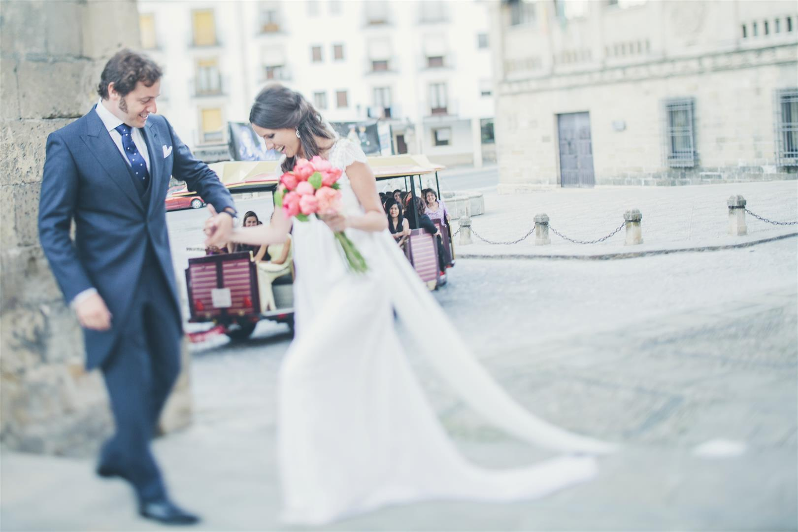 alquilar tren turistico boda invitados