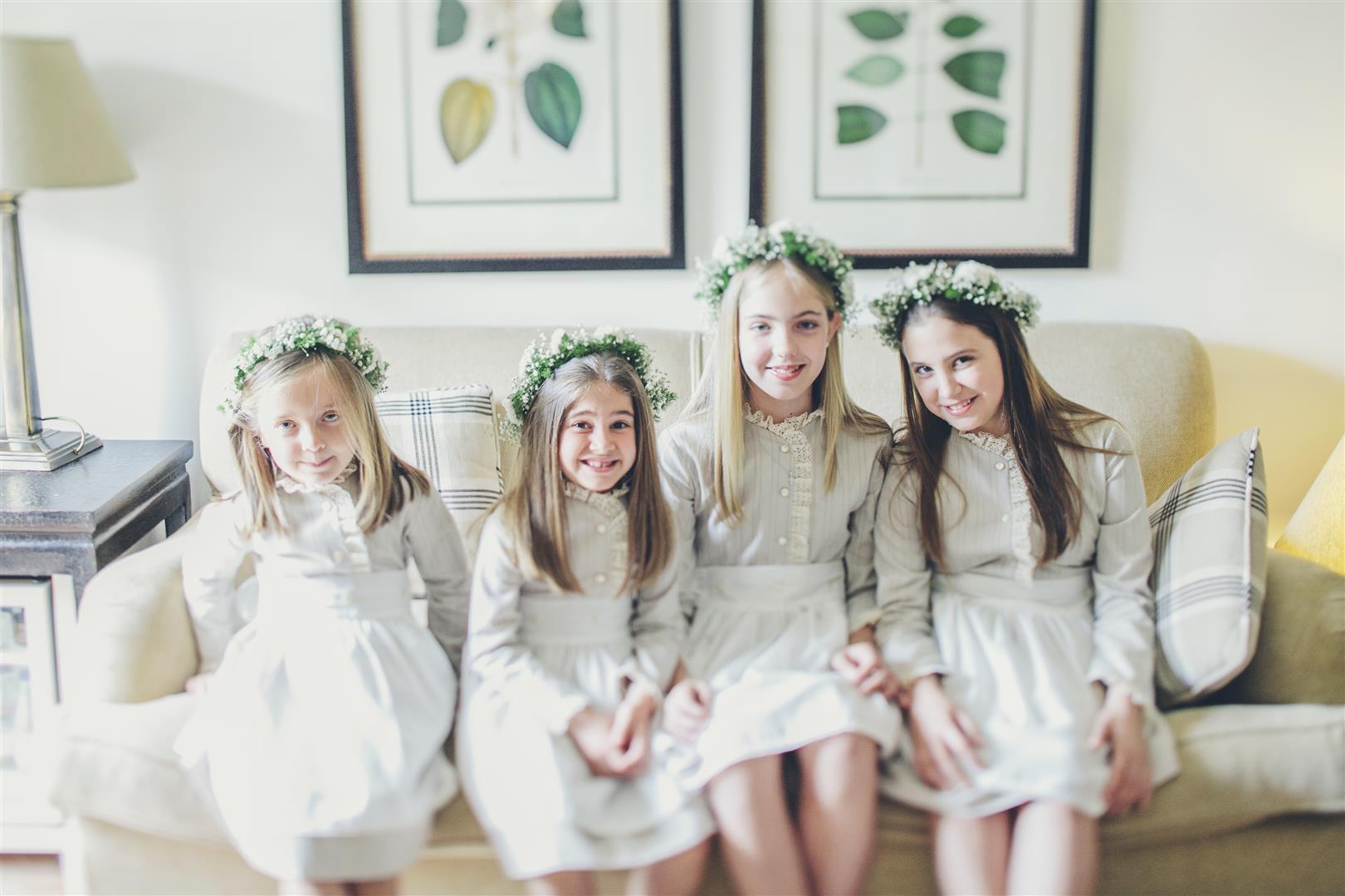 coronas flores ninas boda