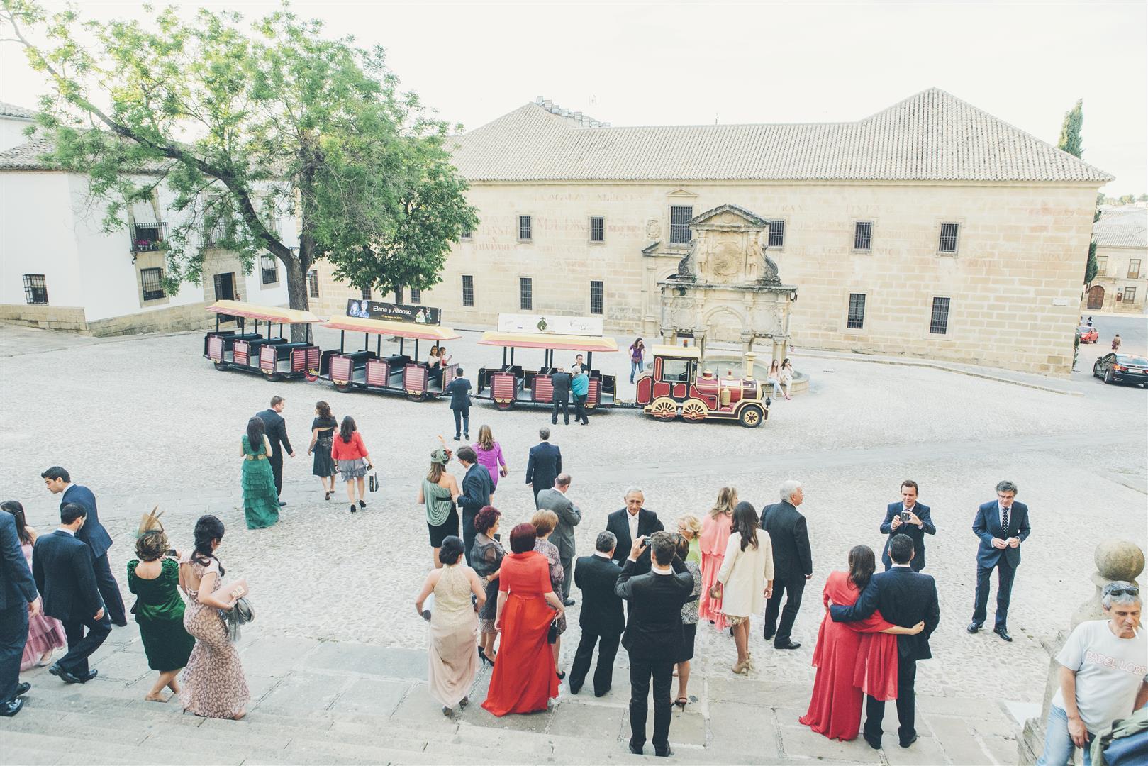 tren para invitados boda
