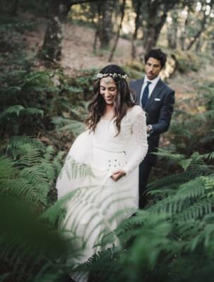 <br> <font size=5> Elena y Miguel  </font><br><font size=6> La boda de la corona con medallón </font>